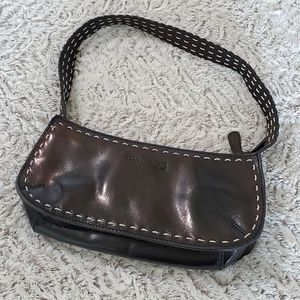 Kenneth Cole Black Leather Shoulder Bag